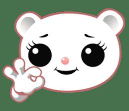 Berry, kawaii little white bear sticker #439976