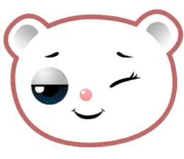 Berry, kawaii little white bear sticker #439977