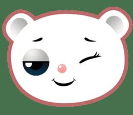 Berry, kawaii little white bear sticker #439977