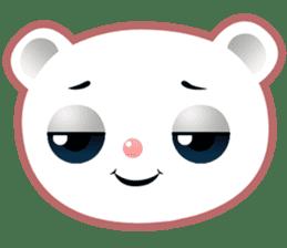 Berry, kawaii little white bear sticker #439979