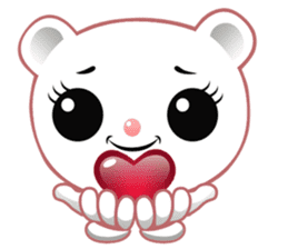 Berry, kawaii little white bear sticker #439983
