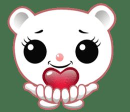 Berry, kawaii little white bear sticker #439983