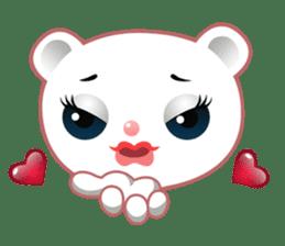 Berry, kawaii little white bear sticker #439985