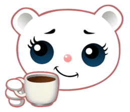 Berry, kawaii little white bear sticker #439986
