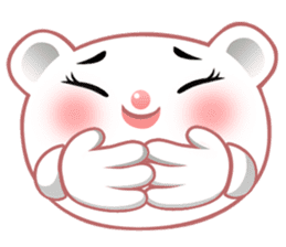 Berry, kawaii little white bear sticker #439989