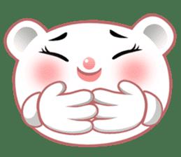 Berry, kawaii little white bear sticker #439989