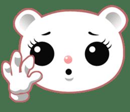 Berry, kawaii little white bear sticker #439991
