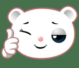 Berry, kawaii little white bear sticker #439992