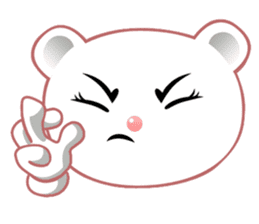 Berry, kawaii little white bear sticker #439993