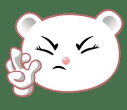 Berry, kawaii little white bear sticker #439993