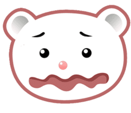 Berry, kawaii little white bear sticker #439997