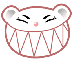 Berry, kawaii little white bear sticker #439998