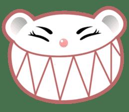 Berry, kawaii little white bear sticker #439998