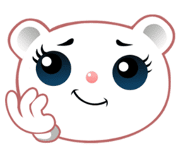 Berry, kawaii little white bear sticker #439999