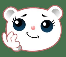 Berry, kawaii little white bear sticker #439999
