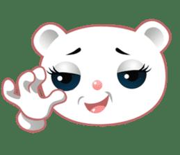Berry, kawaii little white bear sticker #440000