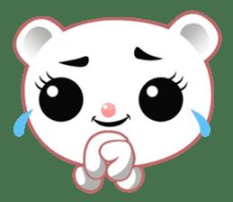 Berry, kawaii little white bear sticker #440001