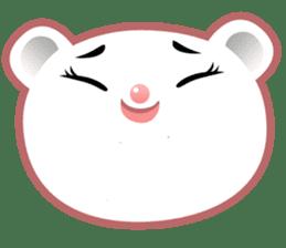 Berry, kawaii little white bear sticker #440002