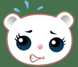 Berry, kawaii little white bear sticker #440003