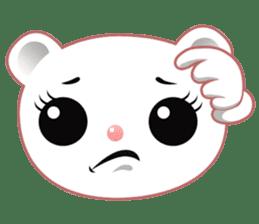 Berry, kawaii little white bear sticker #440004