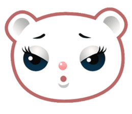 Berry, kawaii little white bear sticker #440006