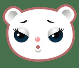 Berry, kawaii little white bear sticker #440006