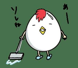 Stately  Boiled eggs - YUDETAMA sticker #442652