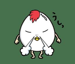Stately  Boiled eggs - YUDETAMA sticker #442665