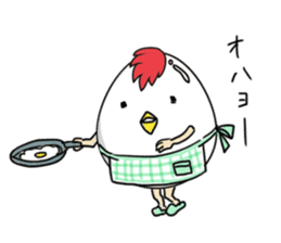 Stately  Boiled eggs - YUDETAMA sticker #442673
