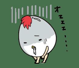 Stately  Boiled eggs - YUDETAMA sticker #442676
