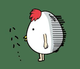 Stately  Boiled eggs - YUDETAMA sticker #442684