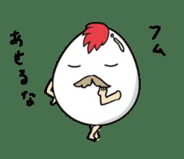 Stately  Boiled eggs - YUDETAMA sticker #442688