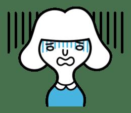 "Shy girl ""Ma-ko"" sticker #443173"