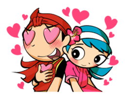 Eisa-kun & Mo-rechan sticker #443438