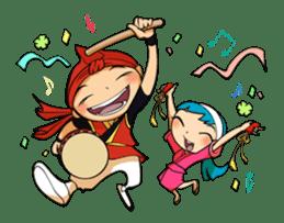 Eisa-kun & Mo-rechan sticker #443439