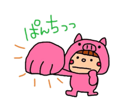 Pig costume? why not. sticker #444089