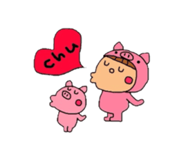 Pig costume? why not. sticker #444095