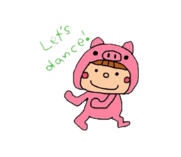 Pig costume? why not. sticker #444097