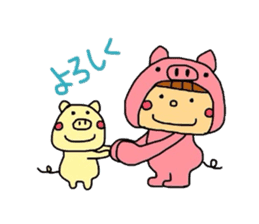 Pig costume? why not. sticker #444102
