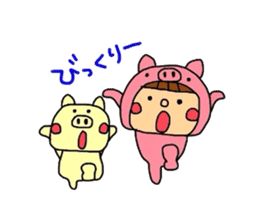 Pig costume? why not. sticker #444107