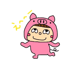 Pig costume? why not. sticker #444126