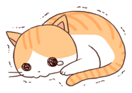 Cute orange tabby cat sticker #445136