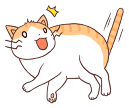 Cute orange tabby cat sticker #445137