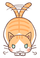 Cute orange tabby cat sticker #445150