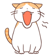 Cute orange tabby cat sticker #445157