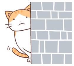 Cute orange tabby cat sticker #445158