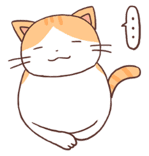 Cute orange tabby cat sticker #445159