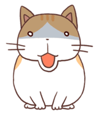 Cute orange tabby cat sticker #445160