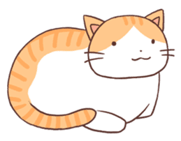 Cute orange tabby cat sticker #445164