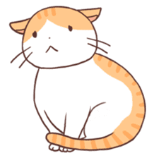 Cute orange tabby cat sticker #445168